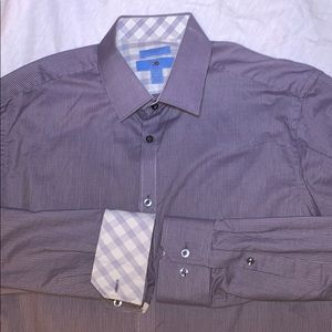 Slim Fit Grey XL 17-17.5 Dress Shirt